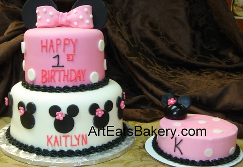 Minnie Mouse 1st Birthday Sheet Cake Minnie Mouse 1st Birthday Cake