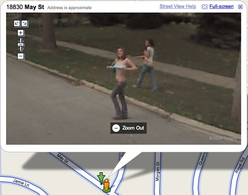 Brilliant People caught naked on google earth
