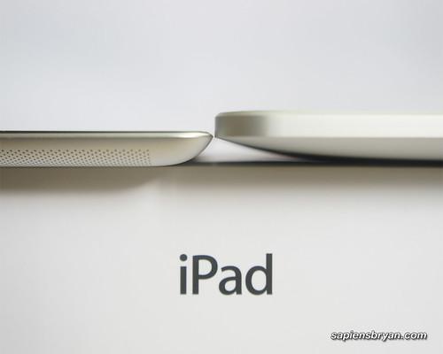 Thickness Comparison Between iPad 2 &  iPad