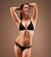 Myofibrils (mrkungfu) Tags: light people girl female pose women muscle minimal bikini strength fitness