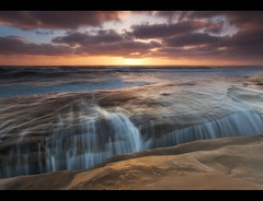 Spillage (D Breezy - davidthompsonphotography.com) Tags: california light sunset seascape clouds canon sandstone waves sandiego lajolla windandsea 1740mml 5dmarkii