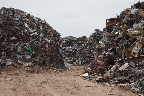 A Road Through the Scrap Piles