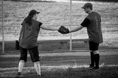 Softball Game: Ball Return (Rhys A.) Tags: park game philadelphia sports field baseball belmont plateau softball players fairmount