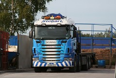 """Stobart Rail """"Kimberly Kate"""" at Carlisle (60044) Tags: kate rail lorry depot eddie kimberly carlisle scania stobart ecz r420 eu06"""