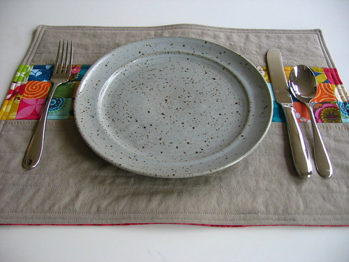 Placemat placesetting