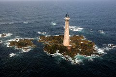 Skerryvore Lighthouse aerial view (iancowe) Tags: ocean lighthouse tower rock scotland pillar scottish atlantic helicopter stevenson tiree hebrides northernlighthouseboard nlb skerryvore wbnawgbsct