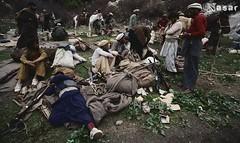 Pashtun Mujahideen of Nuristan (Pashtun Afghan) Tags: people afghanistan men rebel war asia gun asians military muslim group rifle weapon soviet blanket afghan males warriors resting adults 1985 campsite guerrilla afghans pakhtun assaultrifle pashtun mujahideen centralasians pashton pashtoon nuristanprovince