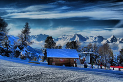 IMG_2502HDR (chrisgandy2001) Tags: sun mountain snow switzerland hdr highdynamicrange verbier