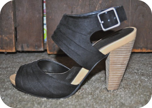 Black Double Wide Strap Heels