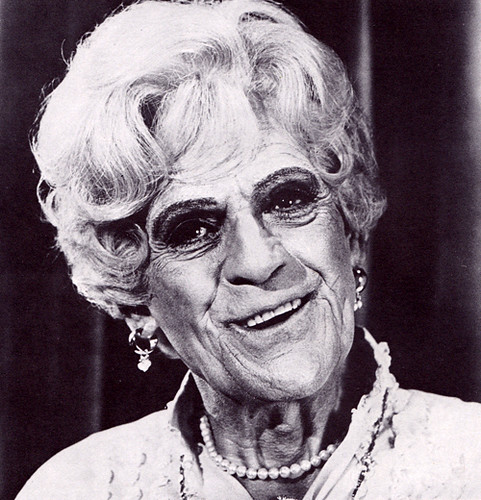 Boris Karloff in drag