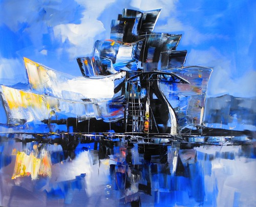 The Guggenheim, Bilbao, Spain - Painting - Abstract