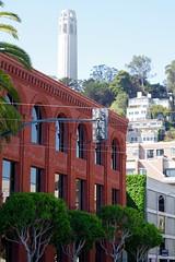 Red Bricks & Coit Tower (frankbehrens) Tags: california sanfrancisco kalifornien coittower