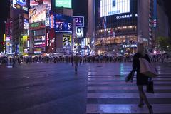 CROSSING (ajpscs) Tags: ajpscs japan nippon  japanese  tokyo  nikon d750 streetphotography shibuya  street signallight pedestrian pedestriancrossing crosswalk mosaic intersection lines scramblecrossing  sukuranburuksaten run shitamachi nightshot tokyonight nightphotography citylights tokyoinsomnia nightview lights dayfadesandnightcomesalive afterdark urbannight crossing