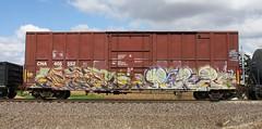 Paser/Rakn (quiet-silence) Tags: graff freight train railroad railcar art graffiti fr8 paser mfk rakn wil uh boxcar canadiannational cna405552 cn