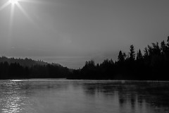 Nechako (chrisleboe) Tags: nechako nechakoriver mist morning sun sunstar river water princegeorge princegeorgebc