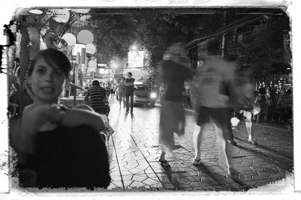 Drinking at Khao san road.