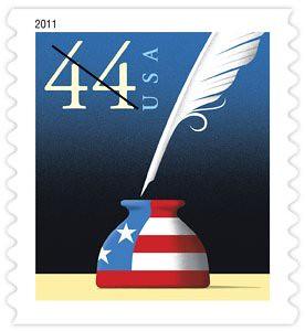 Patriotic Quill Stamp