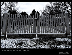 The Road Less Traveled (Gen-Y-Photography) Tags: road travel fence poem robertfrost friday poety theroadlesstraveled fencefriday fencedfriday