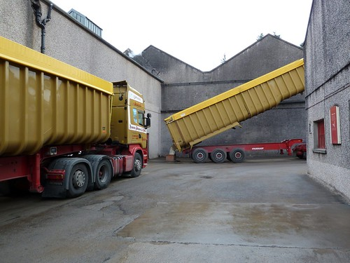 Loading malted barley at Aberlour