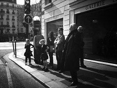 Waiting For (benedicte guillon) Tags: street city family light people urban blackandwhite bw white black paris france portraits french photography waiting noiretblanc candid streetphotography nb explore 3gs iphone streetphotopgraphy stphotographia iphoneography iphoneographie iphoneographic mobformat11streetnoir mobformat11worldscollide mobformat11shoot