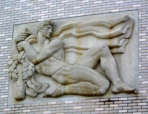 Male bas relief, U.S. Naval Academy, Annapolis, Maryland - a photo ...