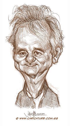 digital caricature of Bill Murray