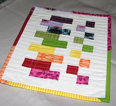 MUG RUG MADNESS (Sew-Fantastic) Tags: modern rainbow quilt sewing fabric quilting kona mugrug