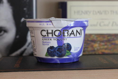 blueberry greek yogurt and granola
