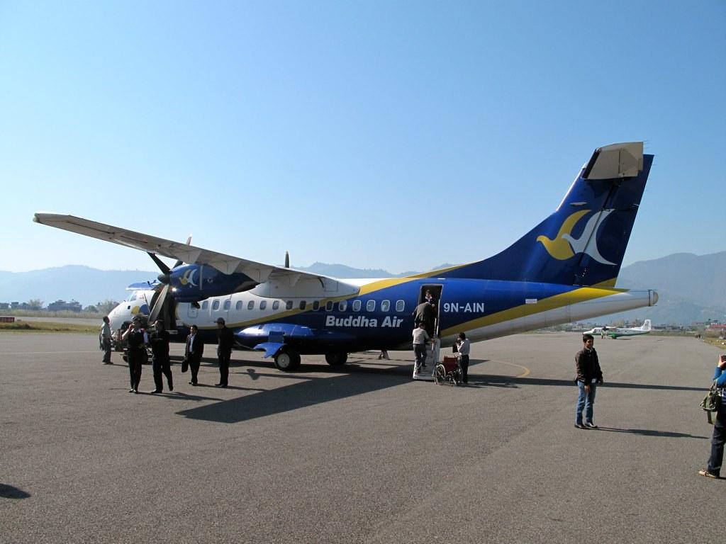 ATR42, Buddha Air, Pokhara
