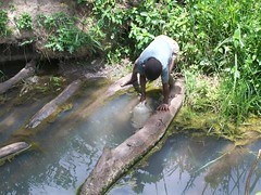 Collecting dirty water