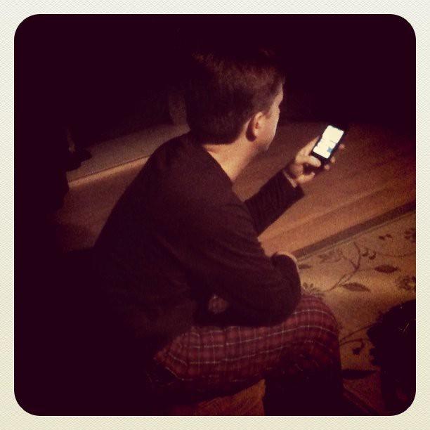 Trent got an iPhone!!!