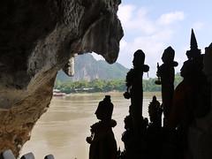 Pak Ou Cave, Laos (Larterman) Tags: travel rain asian asia seasia southeastasia peace buddha buddhist ou meditation teaching reclining laos mekong luangprabang luang pak prabang mekongriver travelphotography pakou travelphotos pakoucave thamting thamtheung