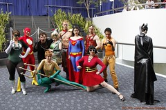 Genderbent justice league - emoting! ( explore ) (LynxPics) Tags: justice league wondercon jla 2011 genderbent