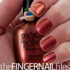 Piggy Polish The Right to Bare Feet (The Fingernail Files | www.thefingernailfiles.com) Tags: fingernails nailpolish piggypolish shimmernailpolish coppernailpolish piggypolishtherighttobarefeet