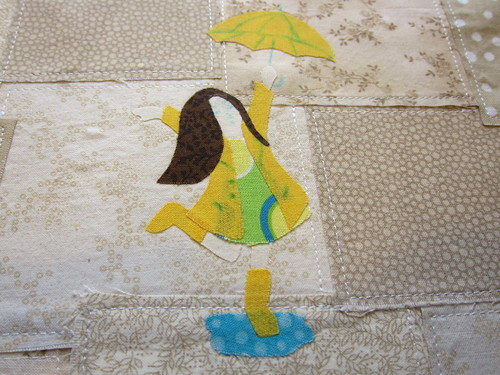 Applique with some stitching lines