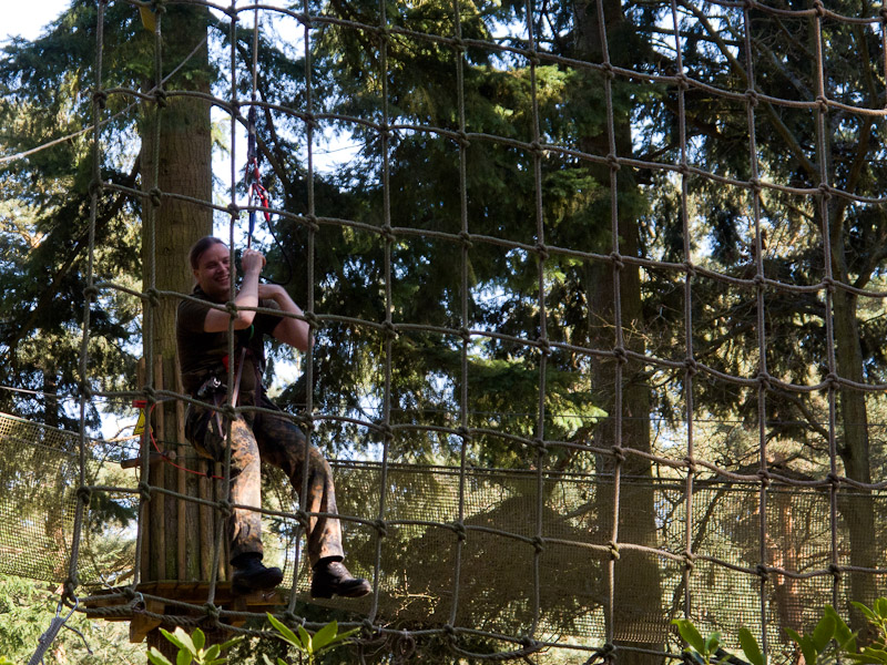 Go Ape! - about to crash into the net
