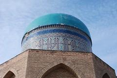 Mausoleum of Rabi'i Sultan Begum (upyernoz) Tags: mausoleum kazakhstan turkistan turkestan казахстан туркестан қазақстан mausoleumofrabi'isultanbegum рабиясұлтанбегімбейіті мавзолейрабиисултанбегим түркістан