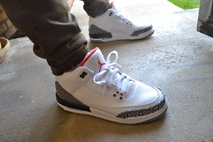 Air Jordan III - Grey Cement (Ma Got Sole) Tags: 3 chicago elephant basketball print michael nikon air iii mj cement bulls jordan dslr jumpman airjordan jordan3 2011 greycement jordaniii wdywt d3100 nikond3100 magotsole