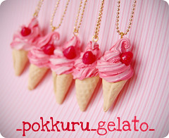 48/365 (pokkuru.) Tags: food cute ice miniature strawberry sweet cream clay gelato morango sorvete polymer casquinha