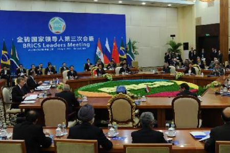 Summit meeting of BRIC held in South China, which includes the countries of Brazil, Russia, India, China and South Africa, have condemned the western imperialist war against the North African state of Libya. by Pan-African News Wire File Photos