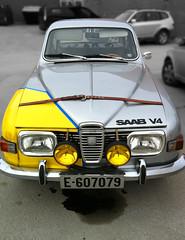 (Anders Hansen) Tags: camera car leather vintage silver phone 4 rally swedish racing norwegian strap bil saab 96 iphone v4