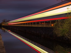 Canal Long Exposure (Stephen Callaghan) Tags: ireland light night train canal long exposure olympus kildare leixlip