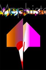 Mephisto 1710 (Jim Keaton - Structured Art) Tags: black art geometric monster graphicart germany dark poster skeleton design yahoo graphics vectorart play power evil transparency devil mephisto illustrator concept satin vector bing 2012 keaton humanstain dimensional angleofdeath extradimensional jimkeaton 710ad manbluehat