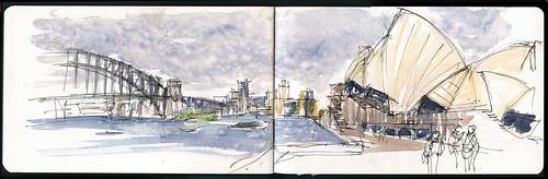 110416 Sketchcrawl 31_04 Opera House in the rain take 2
