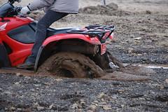 Sinking (Lauren Bansemer) Tags: iceland mud stuck quad atv fourwheeler quicksand borgarnes litlabrekka