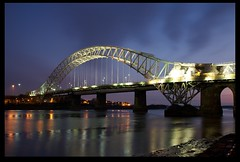 Runcorn Bridge (Mark-Crossfield) Tags: longexposure bridge england night river dark lowlight runcorn merseyside widnes runcornbridge photosof imagesof markcrossfield