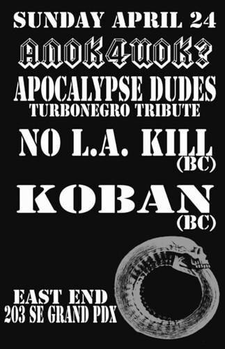 4/24 ApocalypseDudes/NoLAKill/Koban