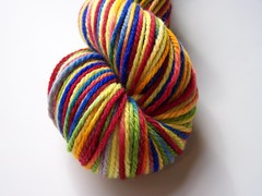 *24hr  Auction* Crayon Box w/silver 3 ply merino Yarn