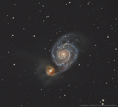 M51 The Whirlpool Galaxy LRGB (Terry Hancock www.downunderobservatory.com) Tags: camera sky field night canon stars photography mono pier backyard williams tech space shed images astro mount observatory telescope whirlpool galaxy german astrophotography canes terry orion modified astronomy imaging m51 hancock messier ccd universe rgb amateur wo cosmos gem equatorial con