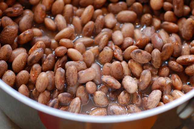 Quick cooking the pinto beans by Eve Fox, Garden of Eating blog
